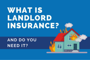 a graphic image of a burning house and the text 'What Is Landlord Insurance? And Do You Need It?'