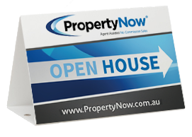 a PropertyNow Open House sign