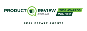 a banner image with the logo of ProductReview.com.au with the words '2018 Awards Winner' next to it