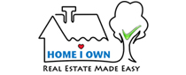 logo of Home I Own with the words Real Estate Made Easy under it