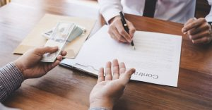 Business Signing a Contract Buy